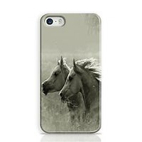 Horses Black And White Phone Case For Apple Iphone 5S And Iphone 5 I5C1030