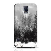Winter Black And White Phone Case For Samsung Galaxy S5 S5C1282