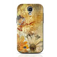 Vintage Flower Paper Design Phone Case For Samsung Galaxy S4 S4C1271