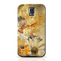 Vintage Flower Paper Design Phone Case For Samsung Galaxy S5 S5C1271
