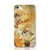 Vintage Flower Paper Design Phone Case For Apple Iphone 5S And Iphone 5 I5C1271