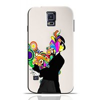 Rings Coming Out Of Man Phone Case For Samsung Galaxy S5 S5C0264