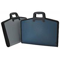 Trio EA12FH Zipper Expanding File 13 Pockets FC (Set Of 1, Blue)