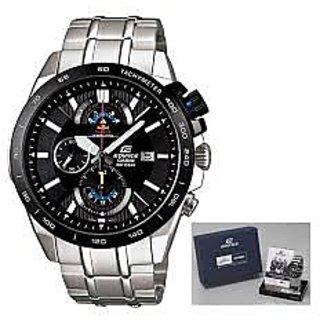 Casio Edifice Chronograph Black Dial Men's Watch - EFR-520RBSP-1AVDF (EX069)