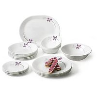 Corelle Asia Collection Warm Pansies 21 Pcs Dinner Set