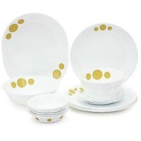 Corelle India Collection Spiral 21 Pcs Dinner Set