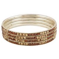 Set Of Four Bangles In Golden And Brown (C2RJ0101CGBR2.8)