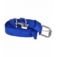 Blue Colored (w-1 Inch) Nylon Collar Set For Pet Dog