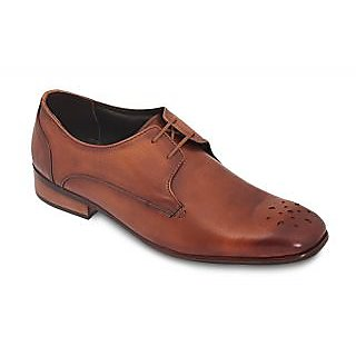 Derby Tan Men's Leather Formal Shoes Brown