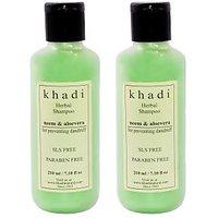 Khadi Neem & Aloe Vera Shampoo SLS & Paraben Free(Twin Pack)