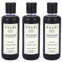Khadi Amla And Bhringraj Shampoo SLS & Paraben Free (Tripack) (630 Ml)