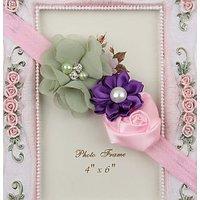 Multicolor Flowers Headband - Pink Purple