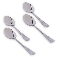 Kishco Premium Quality Stainless Steel 4 Pieces Each Of Tea Spoon, Dinner Spoon, Dinner Fork & Dinner Knife - 76088632