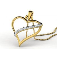 0.07 Cts Sparkles Diamond Pendant  In 18KT Gold