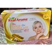 Real Aroma 24 Ct. Gold Spa Facial Kit With Active Oxygen, 5 In 1 Facial Kit, GOLD FACIAL KIT, Buy 1 Get 1 Free,