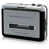 USB Cassette Player And Tape-to-MP3 Converter - 76442332