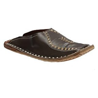 Stophere - Ultra Comfortable Men's Casual Shoe Style Jutis In Brown - Back Open
