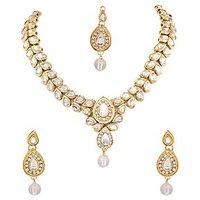 Neelam Antiq Kundan Alloy Jewel Set (Gold)