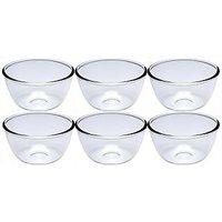 Nanson White Lucky Thailand Glass Bowl Set (Pack Of 6) - 76650656