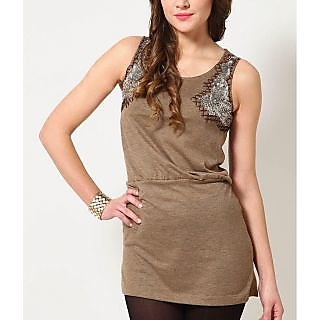 Belle Fille Brown Knits Dress