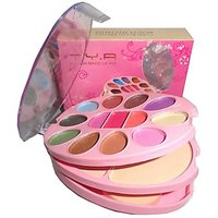T Y A Make-UP Kit With 13 Eye  Shadow 2 Compact And 2 Lip Color