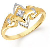 VK Jewels Love Band Rhodium Plated Ring