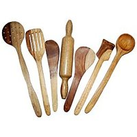 Khan Handicrafts  Wooden Kitchen Tool Set