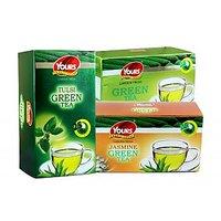 Green Tea (Tulsi+Green+Jasmine) Pack Of Three 25 X 3 = 75 Tea Bags
