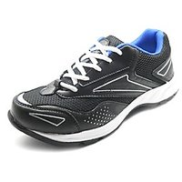 ANR Black And Royal Blue Mens Sports Shoes