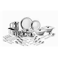 Stainless Steel Dinner Set Of 57 Pcs
