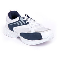 Foot 'n' Style Comfortable White & Blue Sports Shoes (fs449)