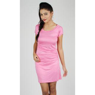 Eli Pink Ruched Dress