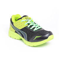 Foot 'n' Style Comfortable Grey & Green Sports Shoes (fs453)