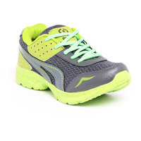 Foot 'n' Style Comfortable Grey & Green Sports Shoes (fs455)
