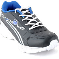 Foot 'n' Style Comfortable Grey & Blue Sports Shoes (fs487)