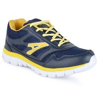 Foot 'n' Style Comfortable Grey & Blue Sports Shoes (fs525)