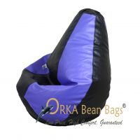 Blue/Black Combination Bean Bag XLarge Filled With Beans