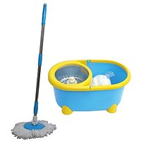 Champion Cleaning Mop With Bucket Blue