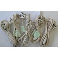 Max Cables POWER CODE 8fit High Quality 3pin Set Of 5Pcs For LED LCD Projector D