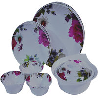 Czar Dine Smart Opal 22 Pcs Dinner Set -Pink Flower