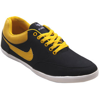 Vonc Black And Yellow Casual Shoes