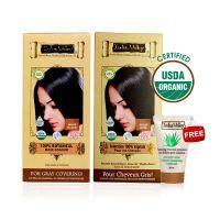 Indus Valley Organic Botanical Hair Colour Indus Black Kit (Set Of 2)