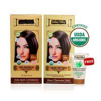 Indus Valley Organic Botanical Hair Colour Indus Brown Kit (Set Of 2) - 78556704