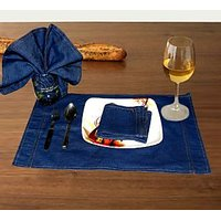 Denim Blue (Set Of 6 Placemats & 6 Napkins)