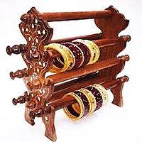 Khan Handicrafts Wooden Bangle Stand