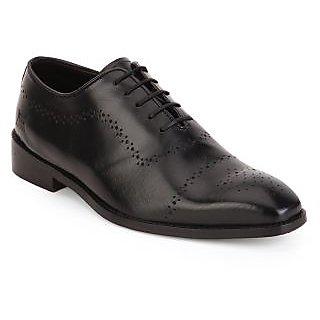 Aditi Wasan Genuine Leather Italian Design Black Finish, Lace Up Formal Shoe