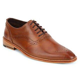 Aditi Wasan Genuine Leather Italian Design Brown Lace Up Formal Shoe