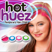 New Hot Hair Temporary Hair Chalk. Set Of 4 Colors Of Temporary Compact Chalk