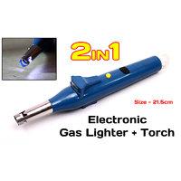 JM 2 In 1 Kitchen Electronic Gas Lighter With Inbuilt LED Torch