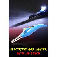 JM 2 In 1 Kitchen Electronic Gas Lighter With Inbuilt LED Torch -02